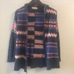 Pink Republic Open Front Knit Sweater. Size 14
